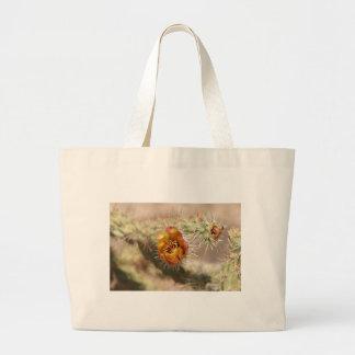 Cholla Cactus Bloom Canvas Bags