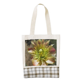 Cholla Desert Flower Bloom Zazzle HEART Tote Bag