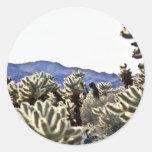 Cholla Garden Round Sticker