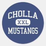 Cholla Mustangs Middle Phoenix Arizona Round Stickers