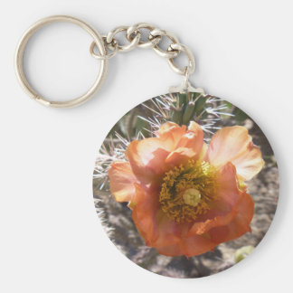 Cholla Peach Bloom Keychain