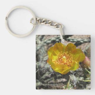 Cholla Pretty Desert Flower Keychain