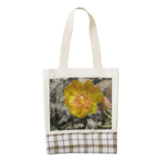Cholla Pretty Desert Flower Zazzle HEART Tote Bag