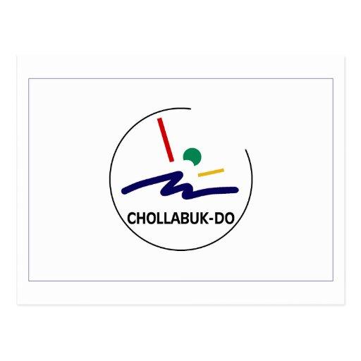 Chollabuk-señale por medio de una bandera postal