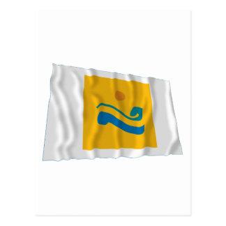 Chollanam-do Waving Flag Postcard