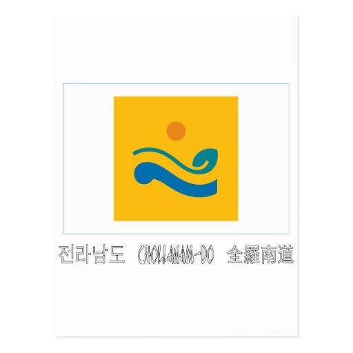 Chollanam-señale por medio de una bandera con postal