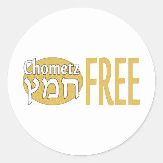 Chometz Free Classic Round Sticker