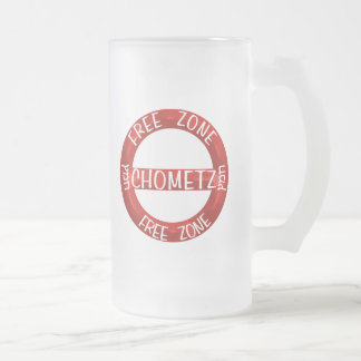 Chometz Free Frosted Glass Beer Mug