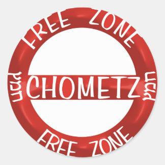 Chometz libera pegatinas