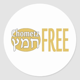 Chometz libera pegatina redonda