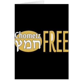 Chometz libera tarjeta de felicitación