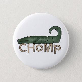 Chomp Alligator Pinback Button