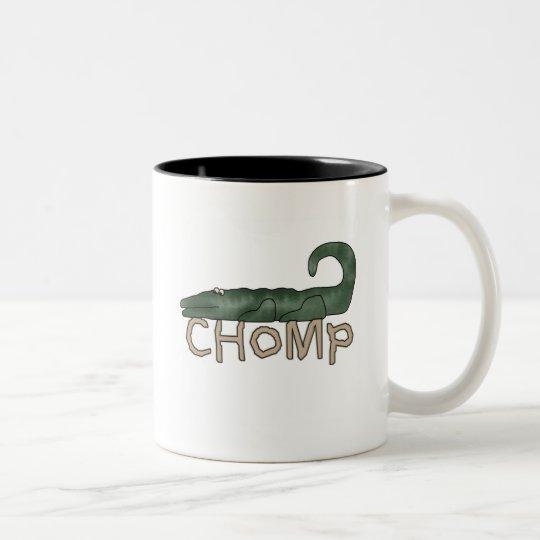 Chomp Alligator Tshirts and Gifts Two-Tone Coffee Mug