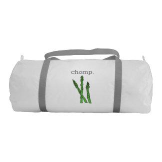 chomp. (asparagus) gym bag