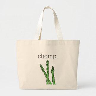 chomp. (asparagus) large tote bag