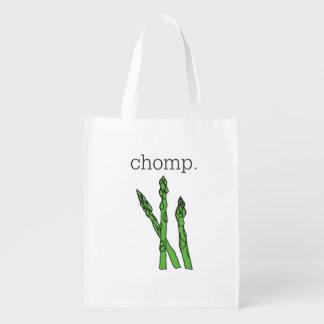 chomp. (asparagus) reusable grocery bag