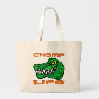 Chomp el cocodrilo de la vida bolsa tela grande