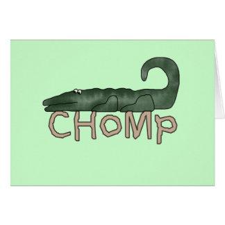 Chomp las camisetas y los regalos del cocodrilo tarjeta de felicitación