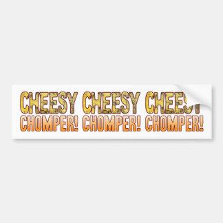 Chomper Blue Cheesy Bumper Sticker