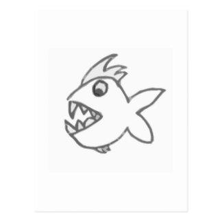 Chomper Fish Postcard