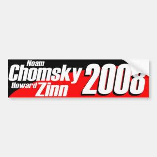 Chomsky \ Zinn 2008 Pegatina Para Auto