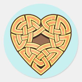 Chonoska Heartknot Round Sticker