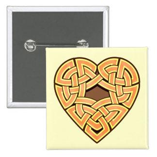 Chonoska Heartknot Square Button
