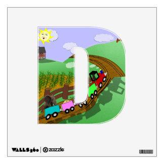 "Choo choo - Alphabet letter - ""D"" Room Decals"