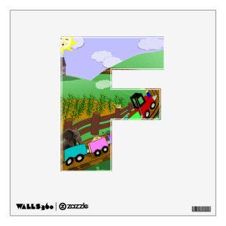 "Choo choo - Alphabet letter - ""F"" Wall Skin"