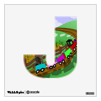 "Choo choo - Alphabet letter - ""J"" Wall Graphics"