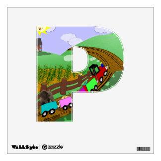 """Choo choo - Alphabet letter - """"O"""" Wall Sticker"""