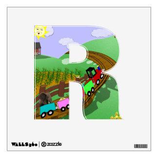 "Choo choo - Alphabet letter - ""R"" Room Stickers"