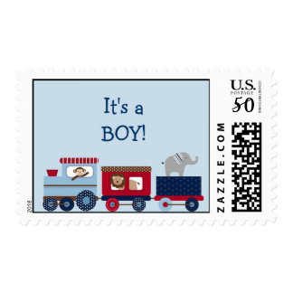 Choo Choo Animal Train Postage Stamps