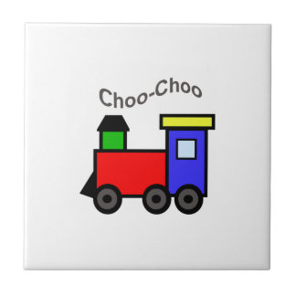CHOO CHOO APPLIQUE CERAMIC TILES