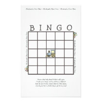 Choo Choo Baby Bingo Shower Game Stationery