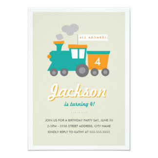 Choo Choo Birthday Party Invitation