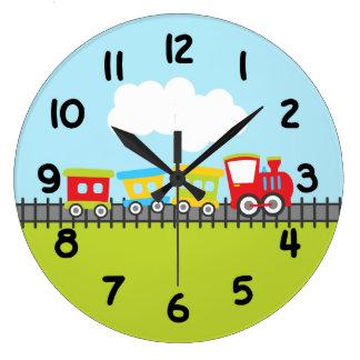 Choo Choo Chain Large Clock
