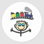 choo choo classic round sticker