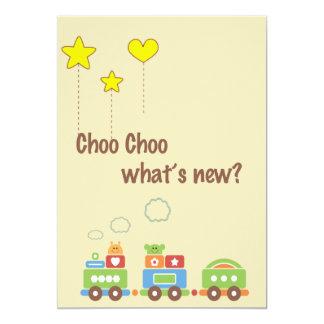 ¿Choo Choo cuál es nuevo? Invitación de la foto Invitación 12,7 X 17,8 Cm