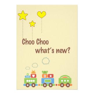 ¿Choo Choo cuál es nuevo Invitación de la foto de