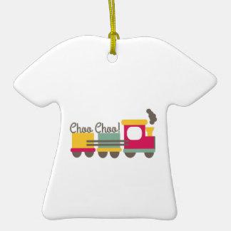 Choo Choo Adorno De Cerámica En Forma De Camiseta