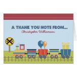 Choo Choo embroma la tarjeta del de agradecimiento
