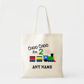 Choo Choo I'm 2!  With TRAIN Canvas Bags