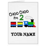 Choo Choo I'm 2!  With TRAIN Card
