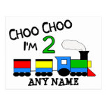 Choo Choo I'm 2!  With TRAIN Post Cards