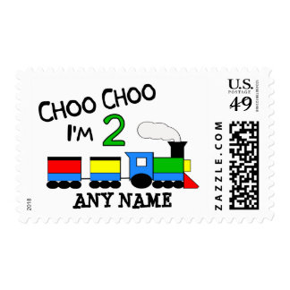 Choo Choo I'm 2!  With TRAIN Postage