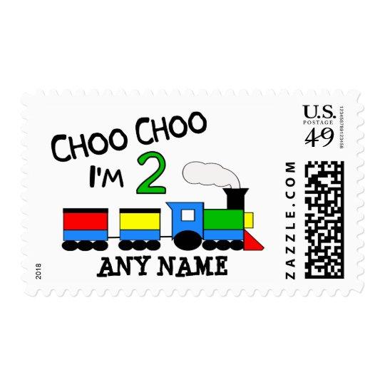 Choo Choo I'm 2!  With TRAIN Postage