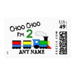 Choo Choo I'm 2!  With TRAIN Postage Stamps
