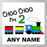 Choo Choo I'm 2!  With TRAIN Poster