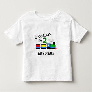 Choo Choo I'm 2!  With TRAIN Toddler T-shirt